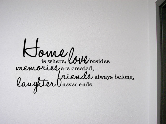 HOME IS WHERE LOVE RESIDES Vinyl Wall Quotes Lettering