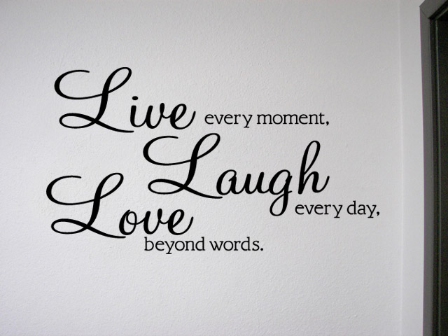 Live Laugh Love Removable Wall Quote Decal Sticker