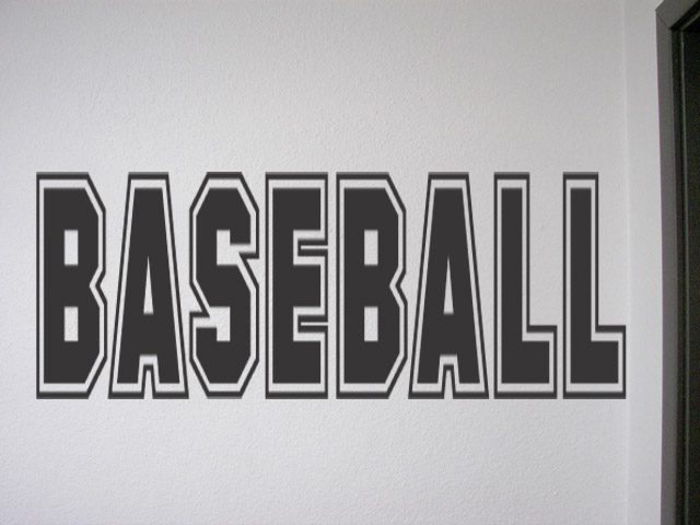 Baseball Vinyl Wall Quote Decal Lettering Room Home Decor Vinyl Quotes Art