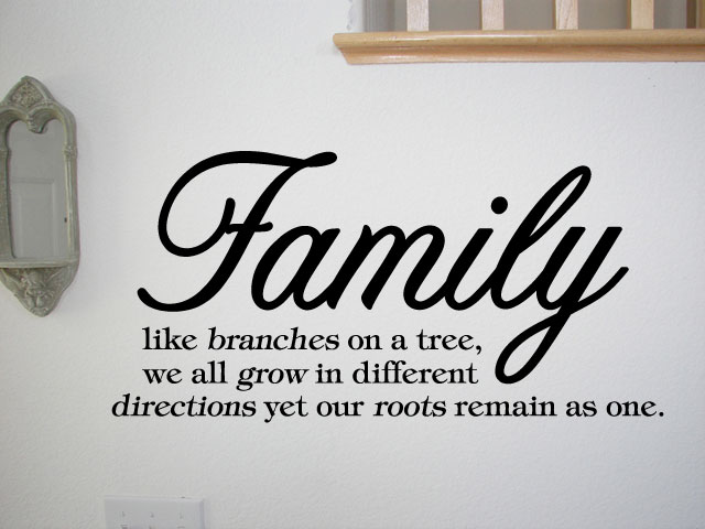 Like Branches On A Tree Quote: FAMILY LIKE BRANCHES ON A TREE Vinyl Wall Quotes Sayings
