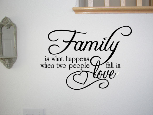 Love Quotes And Sayings Wall Photos : FAMILY LOVE QUOTE VINYL WALL QUOTE DECAL STICKER ART DECOR Wall