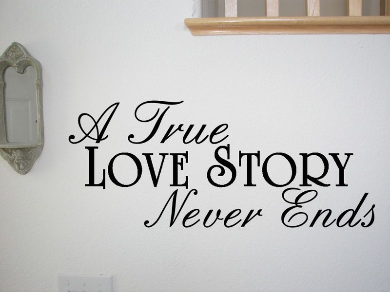 a true love story never ends wall quote decal home ebay