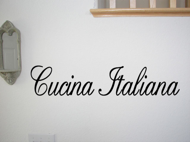 Italian Kitchen Wall Decals Quotes Home Design And Decor Reviews