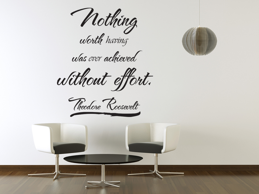 Vinyl wall art theodore roosevelt quote sticker decal for Best quotes for wall art