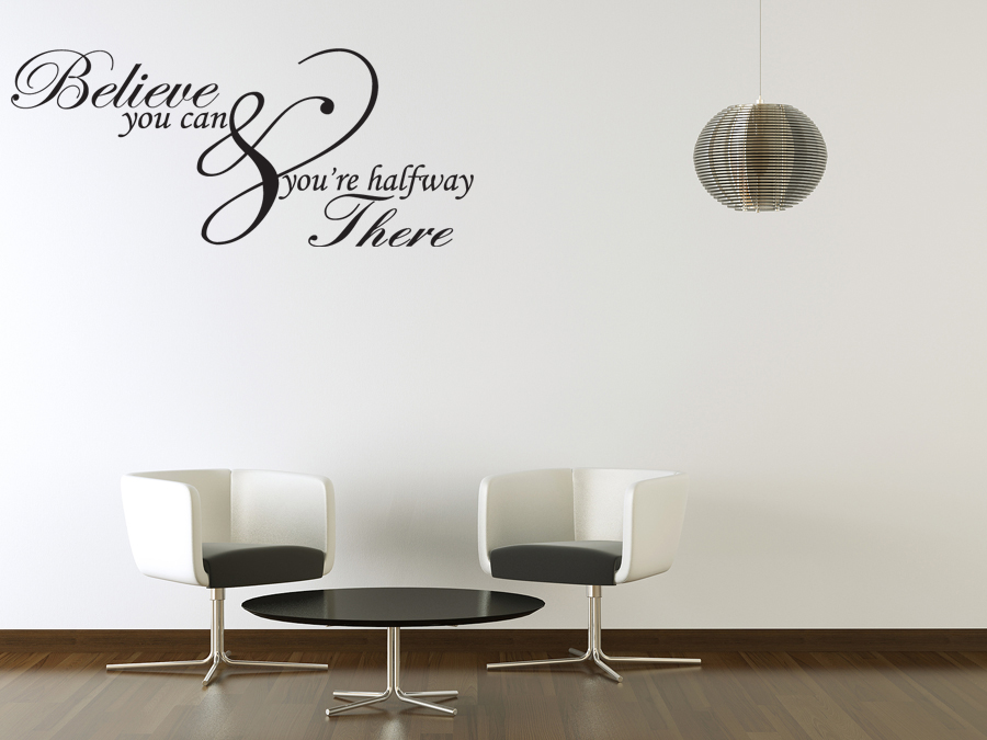 Can Inspirational Quote Vinyl Wall Art Sticker Home Decor Decal J204