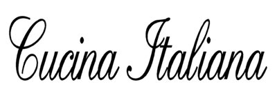 Cucina Italiana Vinyl Wall Quote Decal Italian Kitchen | eBay