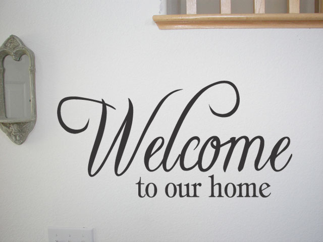 to our home vinyl decal wall quote quotes home decor lettering - Home Decor Quotes