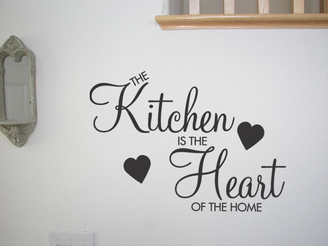 KITCHEN IS THE HEART OF THE HOME ~ Wall Sticker Decal Vinyl Removable