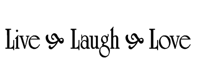 Live Laugh Love Vinyl Wall Quote Decal Family Home Decor Inspirational